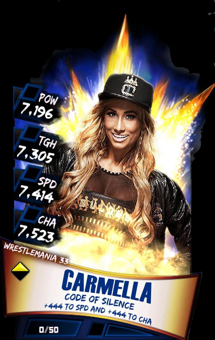 Carmella S3 14 Wrestlemania33 - Wwe Supercard Wrestlemania 33 Carmella (733x1158), Png Download