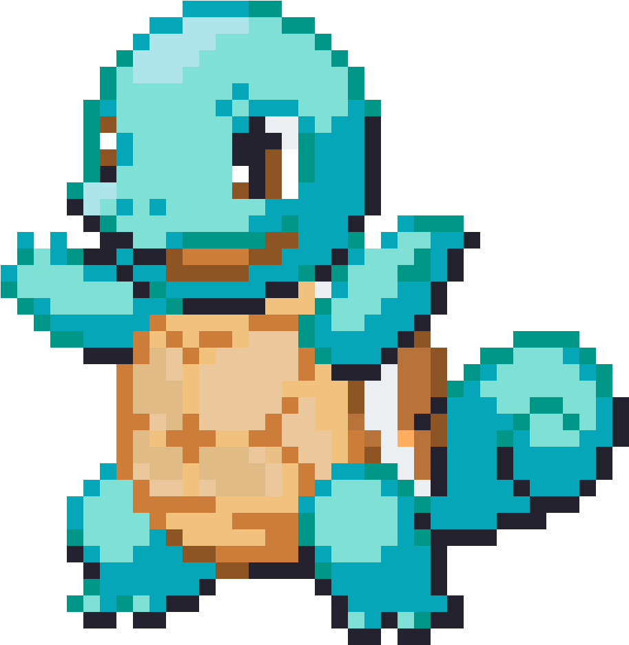 Squirtle - Pokemon Sprite Squirtle (1200x1200), Png Download
