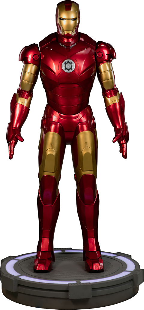 Iron Man Mark Iii Life-size Figure By Sideshow Collectibles - Iron Man - Mark Iii Life Size Statue (480x1031), Png Download