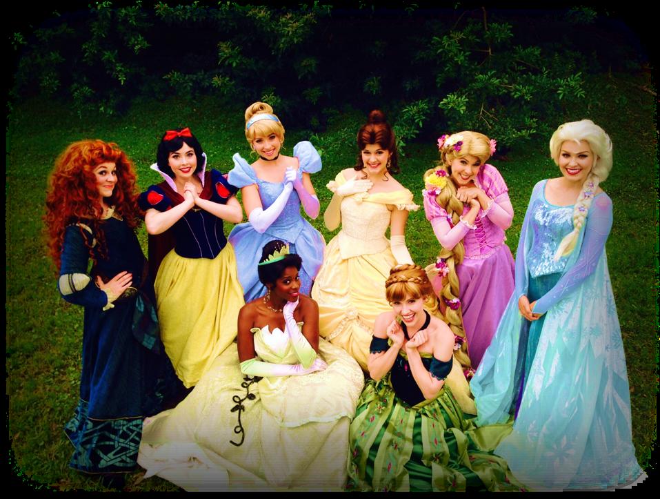 Disney Princesses - Disney Princess Disney World (1009x771), Png Download