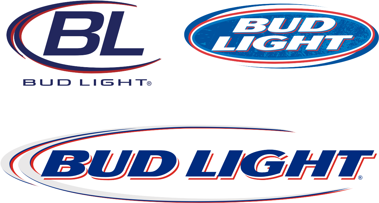 "Clip Art Free Library Bud Logo Font Desktop Backgrounds - Bud Light 12""x4"" Outdoor Decal (1267x899), Png Download"