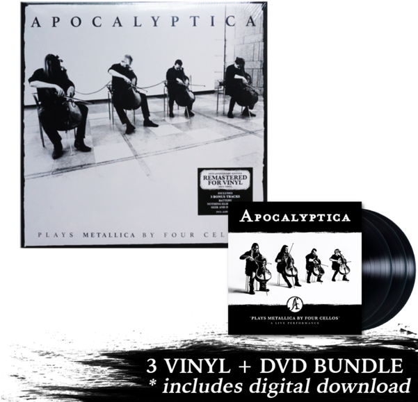 Cd+dvd plays metallica by four cellos a live performance.
