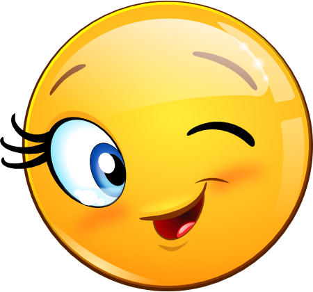 Collection Of Free Blinking Clipart Emoticon - Smiley Clin D Oeil (450x420), Png Download