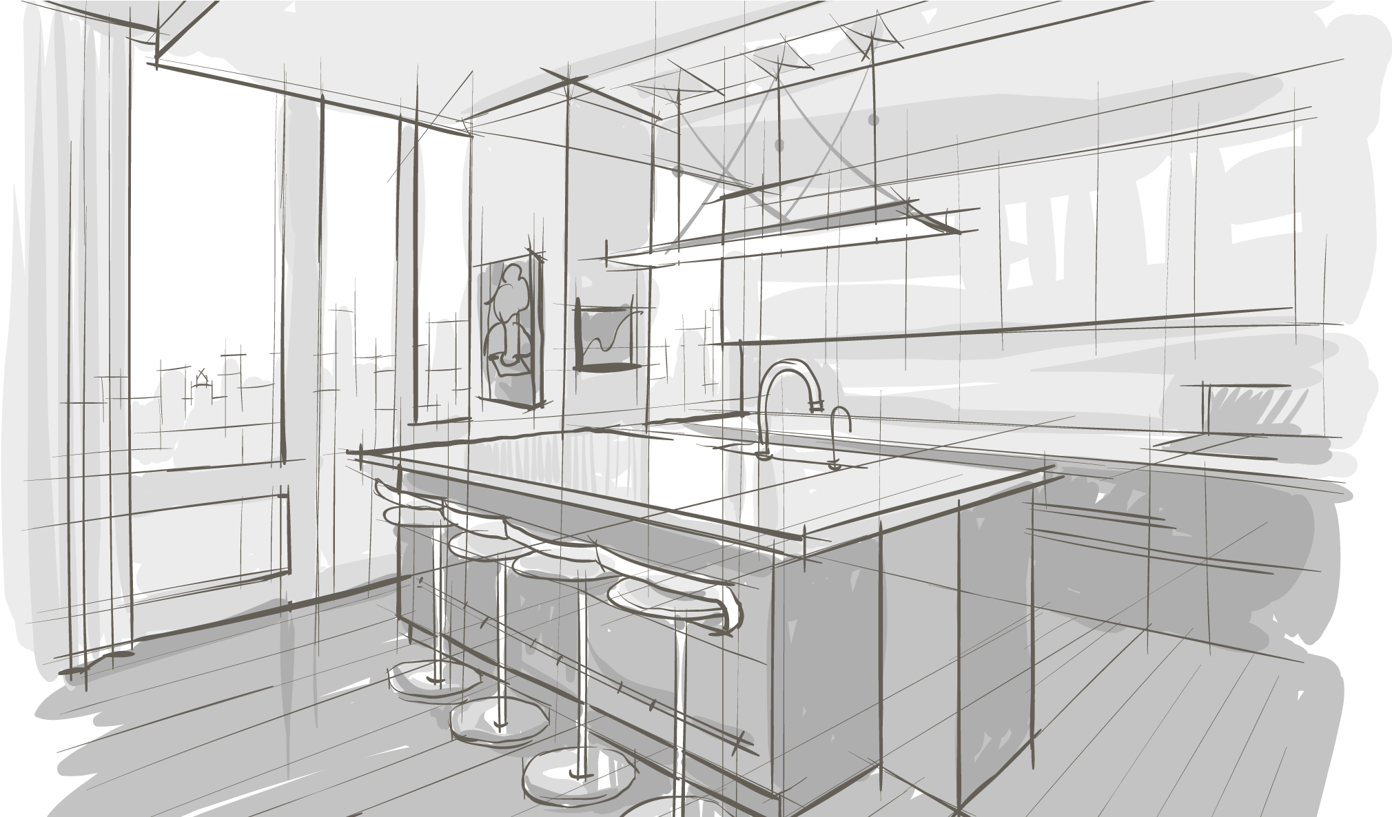 Download Interior Design Sketch Png Png Image With No Background Pngkey Com