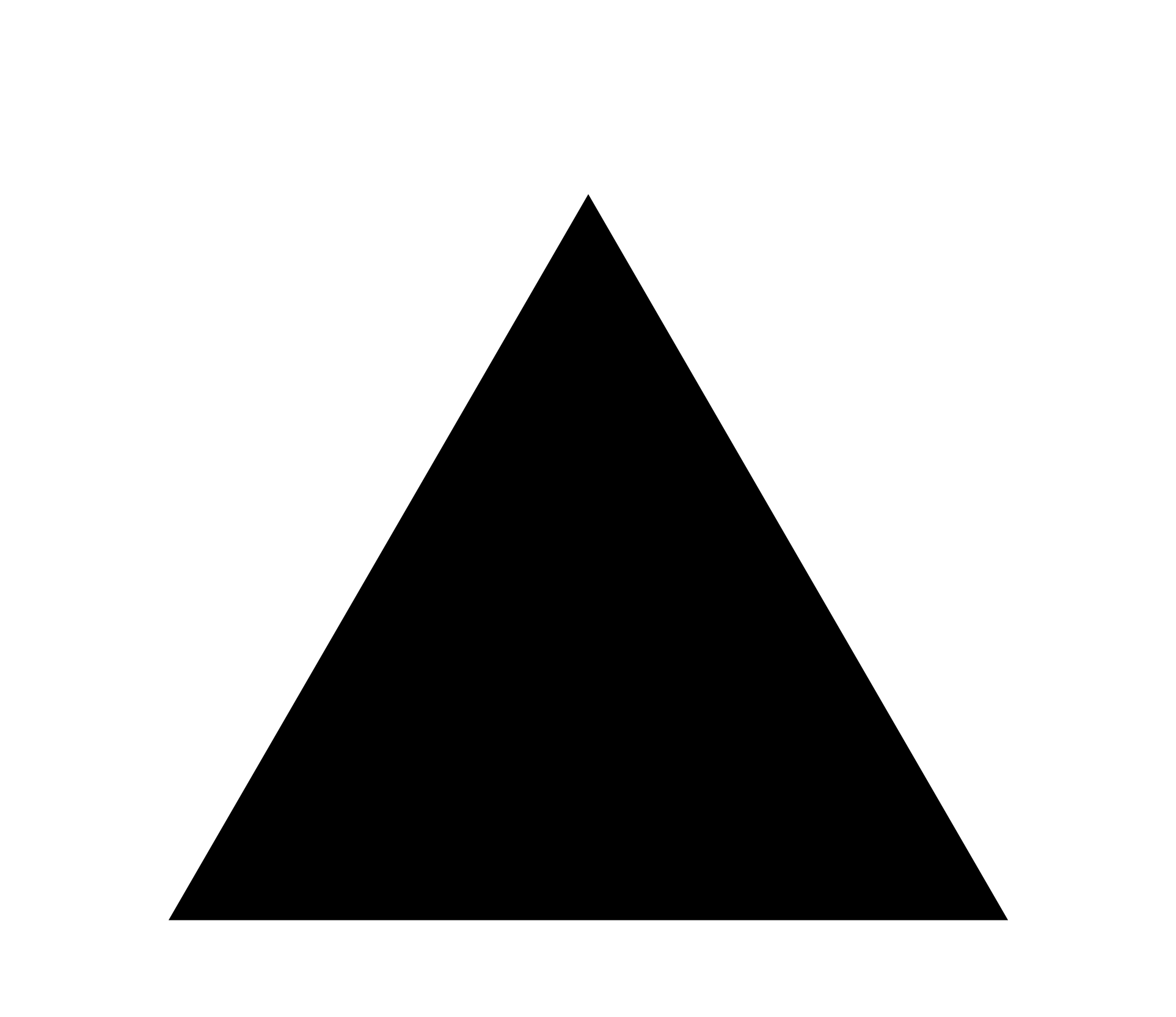 Triangle transparent background. Download freeuse library black