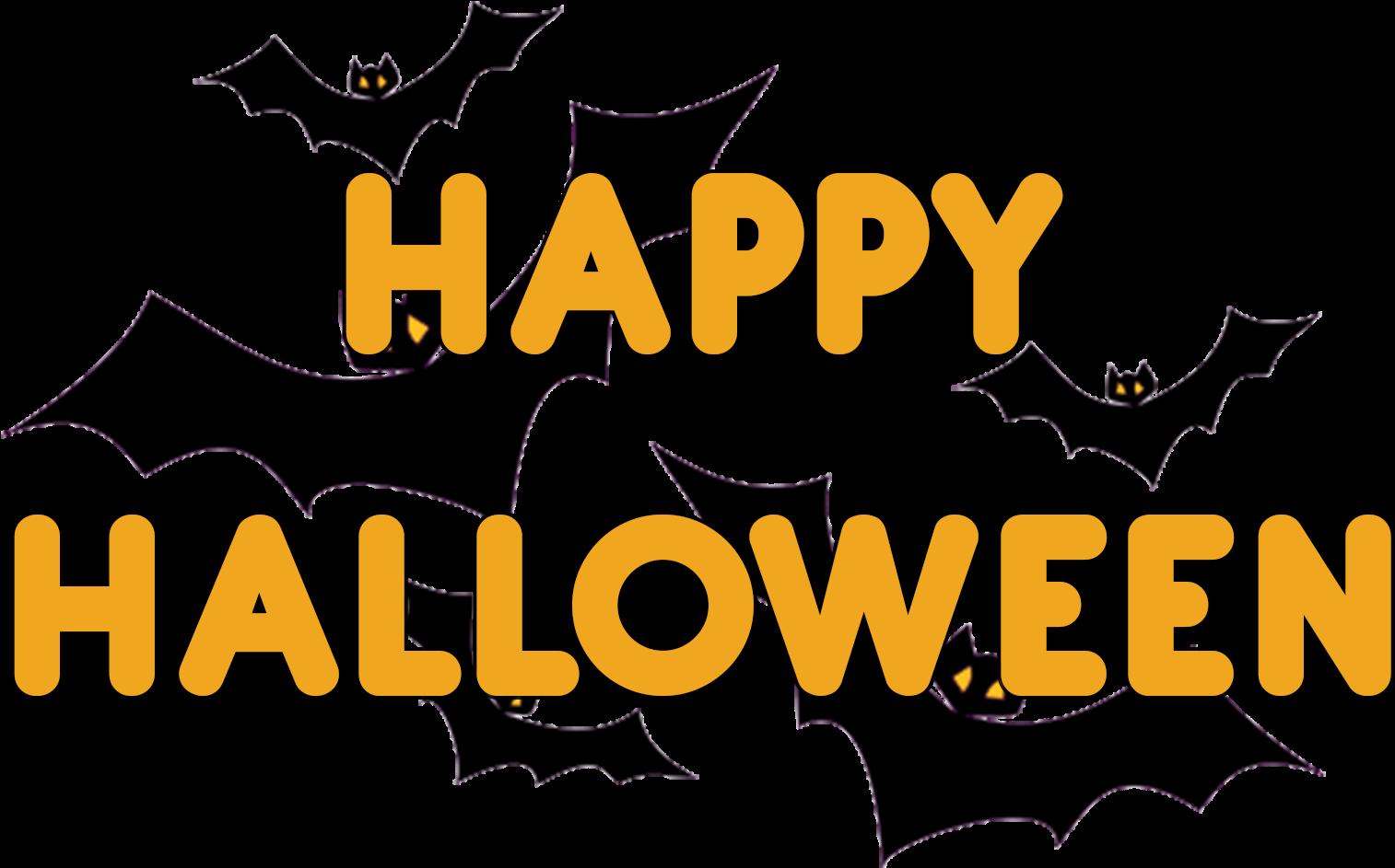 Transparent Happy Halloween Bat (1920x1200), Png Download