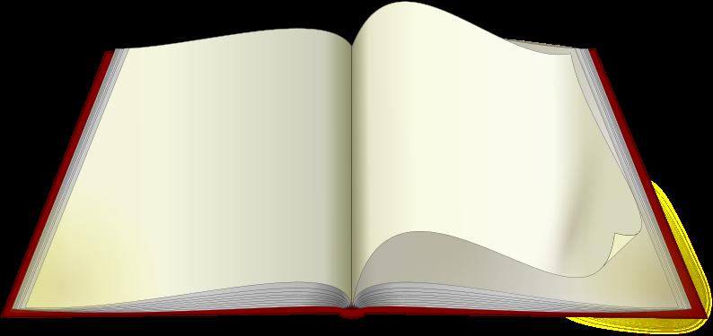 Clip Art Open Book Pages Png - Imagen De Un Libro Abierto Png (800x377), Png Download