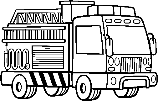 Download A Fire Truck Coloring Page Camion De Bomberos