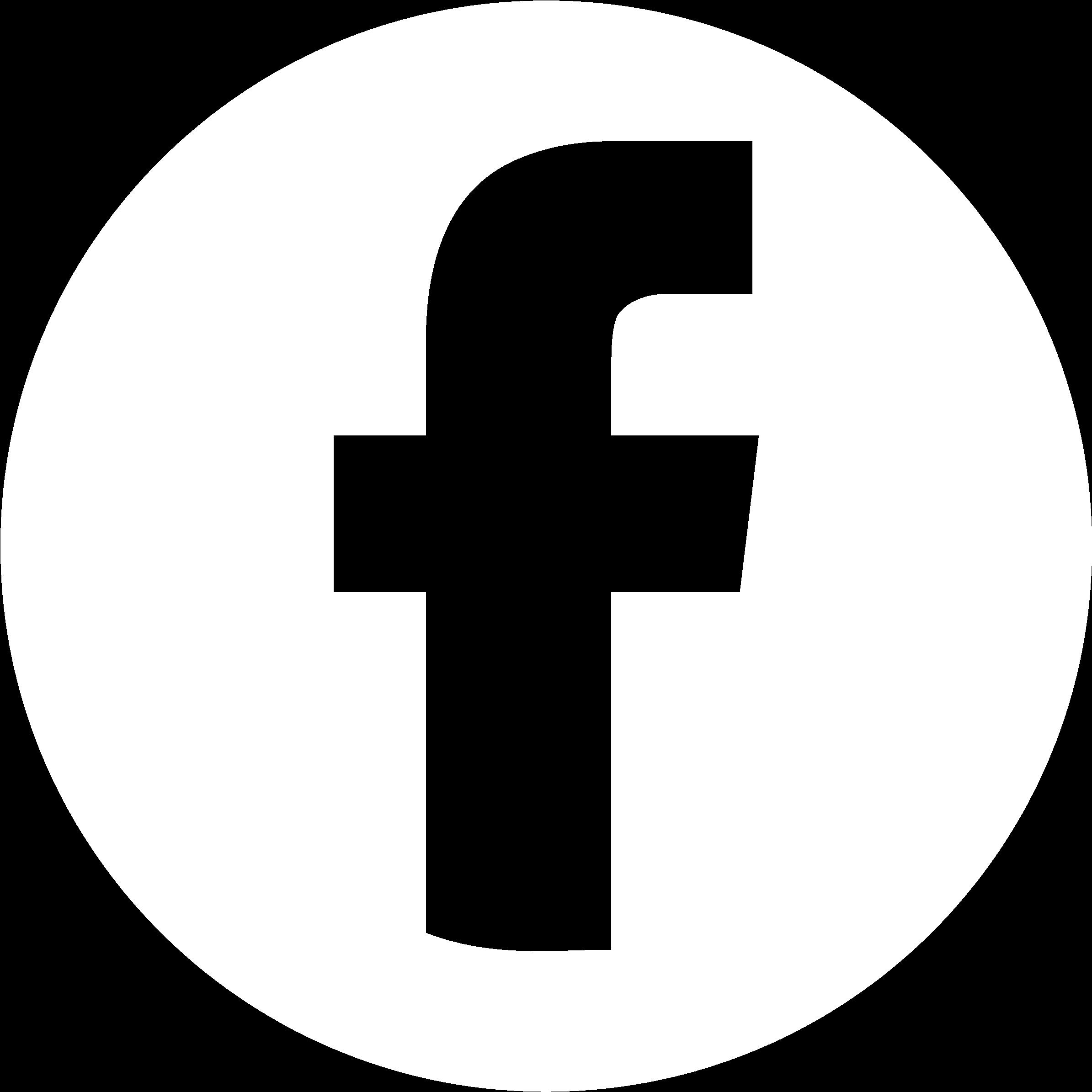 Facebook White Circle - Logo Facebook Noir Et Blanc Rond (2827x2539), Png Download