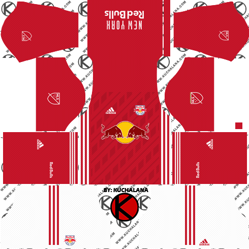 New York Red Bulls Kits - Mexico Kit Dream League Soccer 2018 (490x490), Png Download