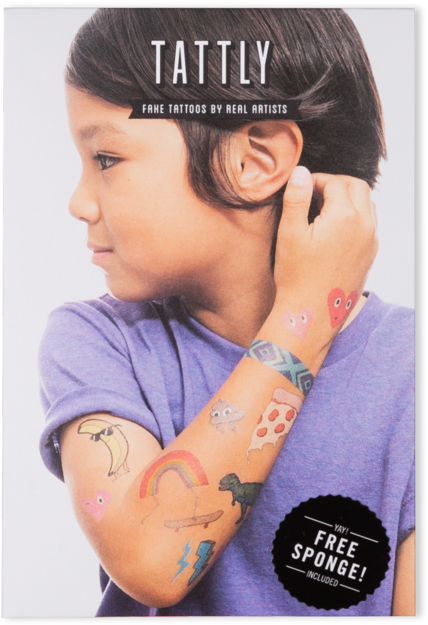 Kids Mix Three - Tattly Temporary Tattoos Kids Mix, 1 Ounce (690x690), Png Download