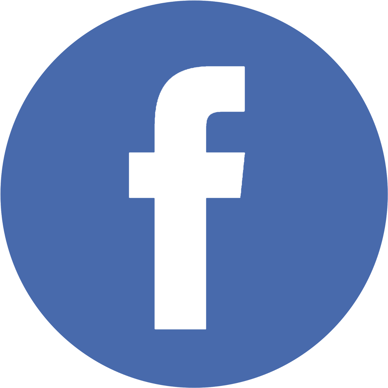 Facebook Twitter Instagram Pinterest - Facebook Logo In Circle Without Background (1600x1600), Png Download
