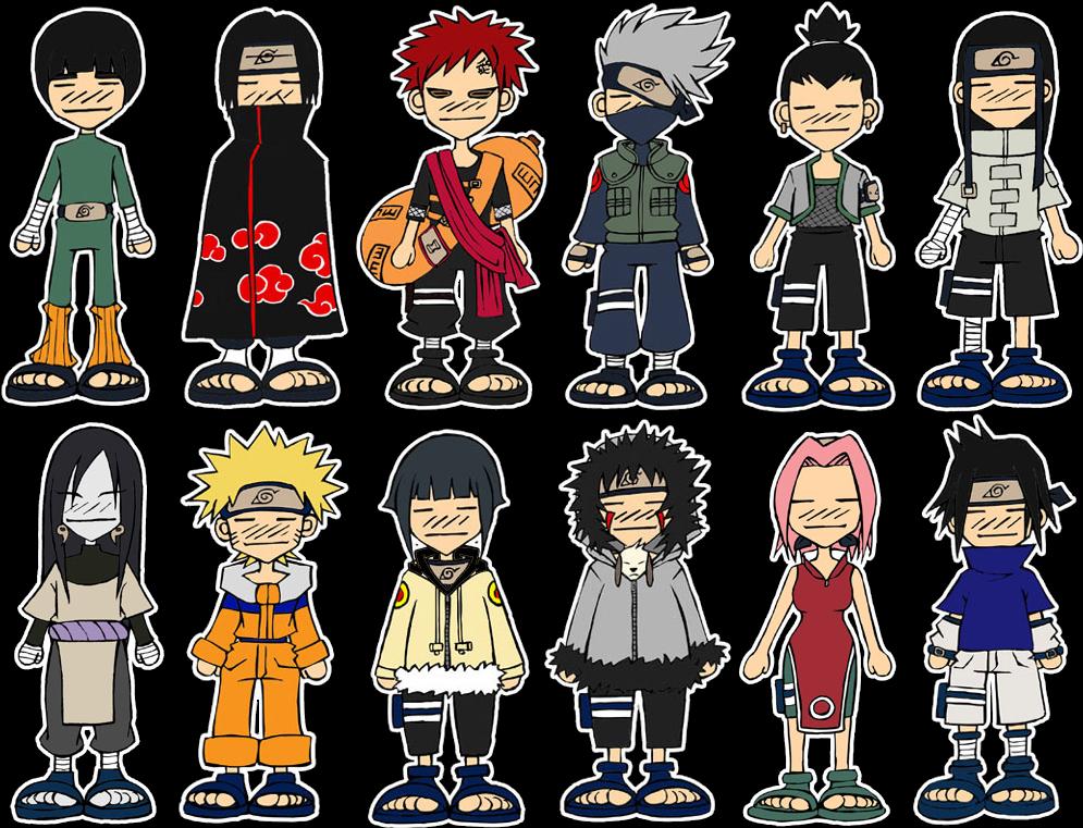 Картинки персонажей из наруто чиби