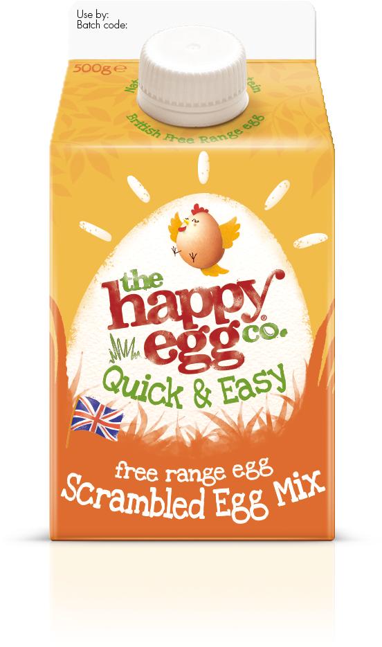 Noble Expands Range With Scrambled Egg Mix In A Carton - Happy Egg Medium Free Range Eggs (589x1022), Png Download