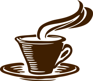 Coffee Cup Drink Cafe Brown Mug Caffeine H - Coffee Cup Clip Art Png (392x340), Png Download