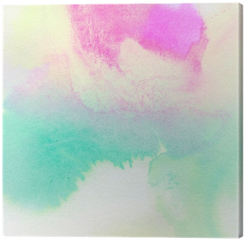 Abstract Colorful Watercolor Painted Background Canvas - Watercolor Painting (400x400), Png Download