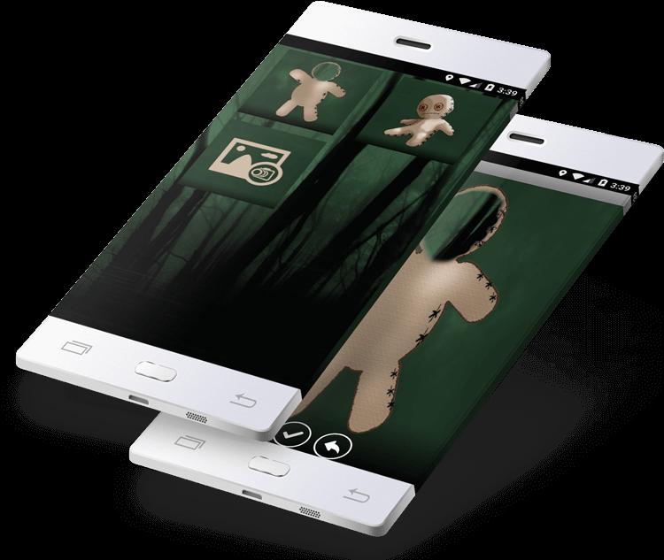 Download Voodoo Doll Maker App Design - Mobile App PNG Image
