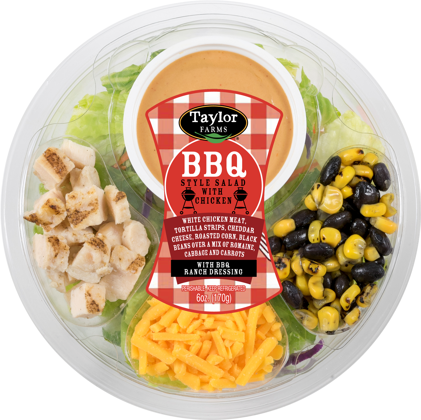 Taylor Farms Bbq Salad With Chicken Round Toss Up, (1492x1500), Png Download