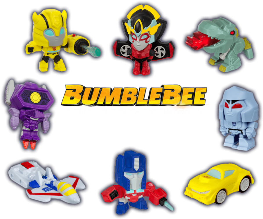 Download 2018 Mcdonald S Transformers Happy Meal Toys Pick Your Bumblebee Happy Meal Toys Png Image With No Background Pngkey Com