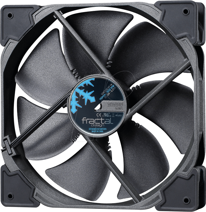 Fractal Design Case Fan Venturi Hp 14 Pwm, 140mm Fractal - Fractal Design Venturi Fans (699x719), Png Download