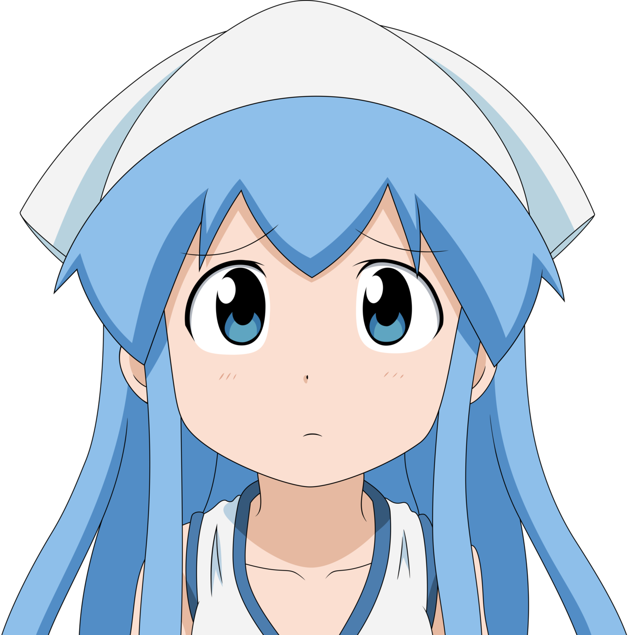 Download Anime Girl Confused Png - Anime Confused Face Png PNG