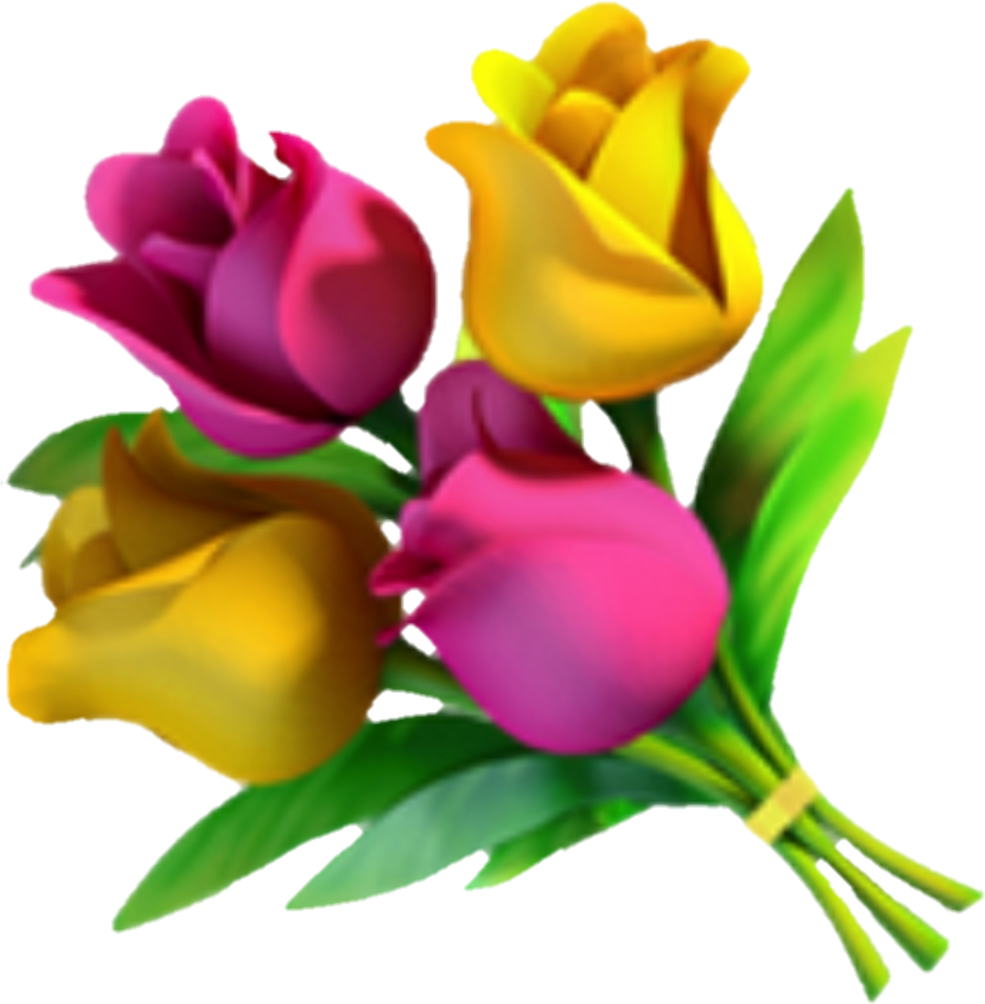 Download Emoji Fleur Flower Flora Rose Jaune Yellow Png Image With