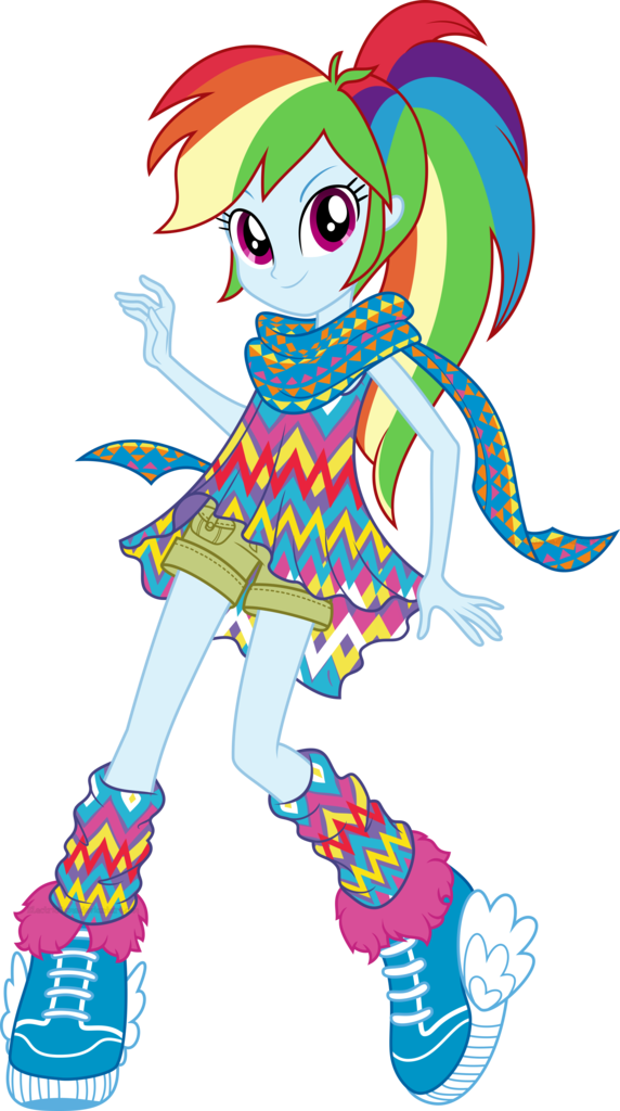 Popular Images - Equestria Girls Legend Of Everfree Rainbow Dash (572x1024), Png Download