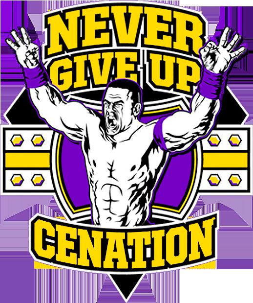 John Cena Logo - John Cena Never Give Up Logo (518x619), Png Download