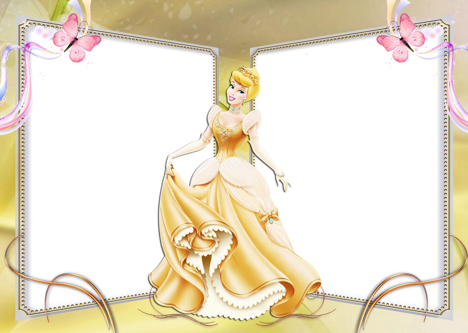 Frame Clipart Disney Princess Pencil And In Color - Frame Disney Princess Png (1600x1140), Png Download