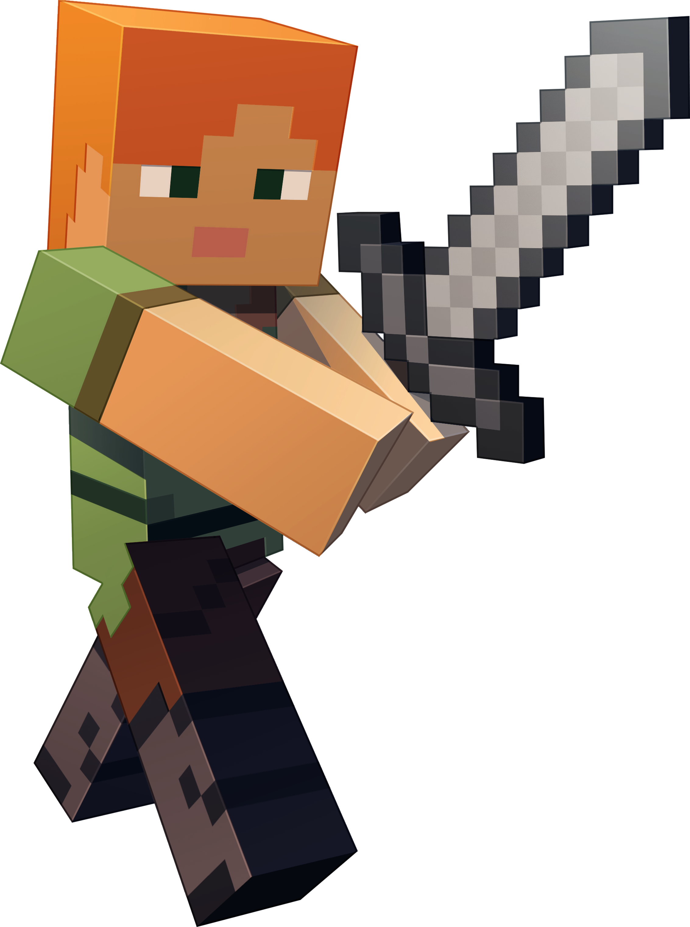 Download Minecraft Character Art Minecraft Alex And Steve Png