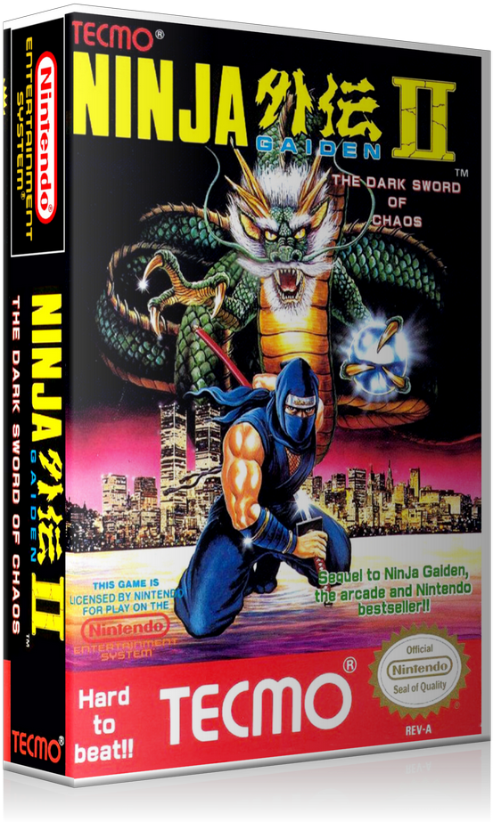 Download Nes Ninja Gaiden 2 Retail Game Cover To Fit A Ugc Style