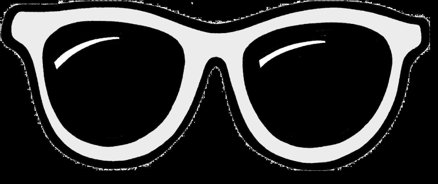 Sun Glasses Svg Transparent Black And White - Clip Art Sunglasses Png (1482x695), Png Download