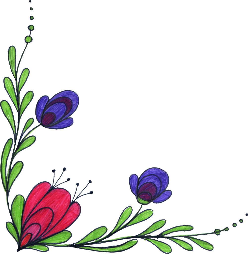 Png File Size - Flower In Corner Transparent Background (1001x1024), Png Download