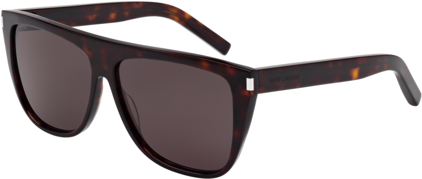 New Wave Sl 1 Black Red Sunglasses / Nylon Lenses - Yves St Laurent Sl 1 (1000x536), Png Download