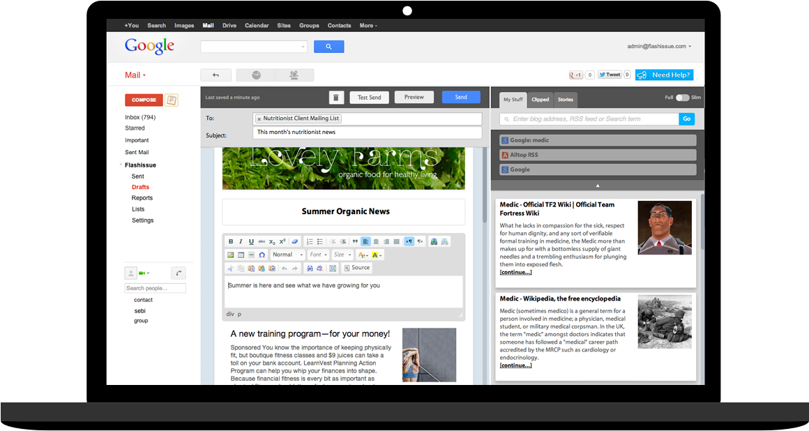 Design Amazing Emails With Our Drag And Drop Editor - Email Marketing Gmail (1200x650), Png Download