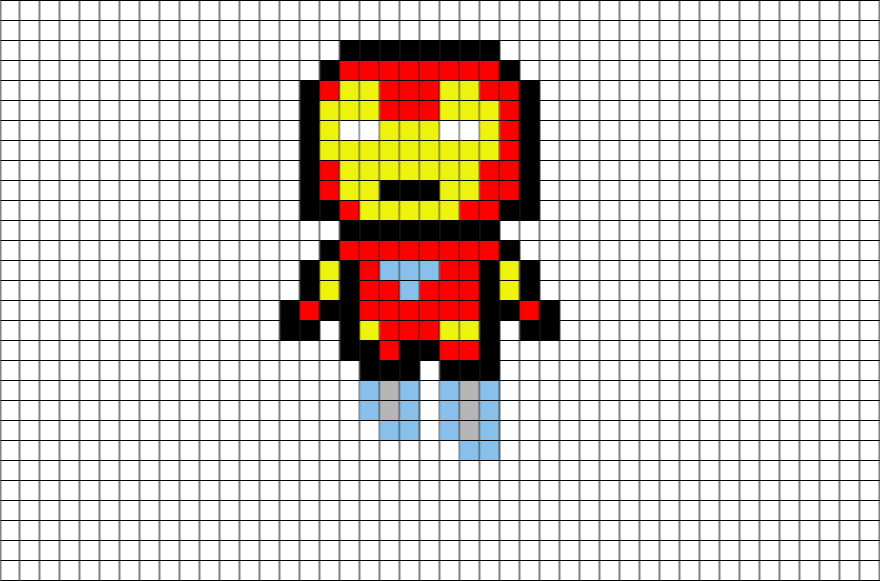Download Dessin Pixel Art Iron Man Png Image With No