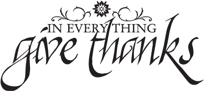 Give Thanks Calligraphy Wall Quotes - Wall Decal (451x451), Png Download
