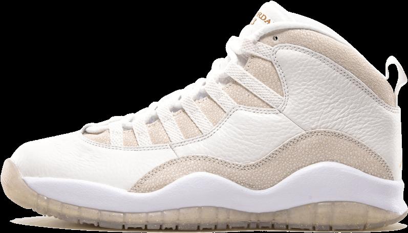 pretty nice f4bb1 c40b7 Air Jordan 10 Retro Ovo 9 Shoes Summit White   Metallic (1000x600), Png