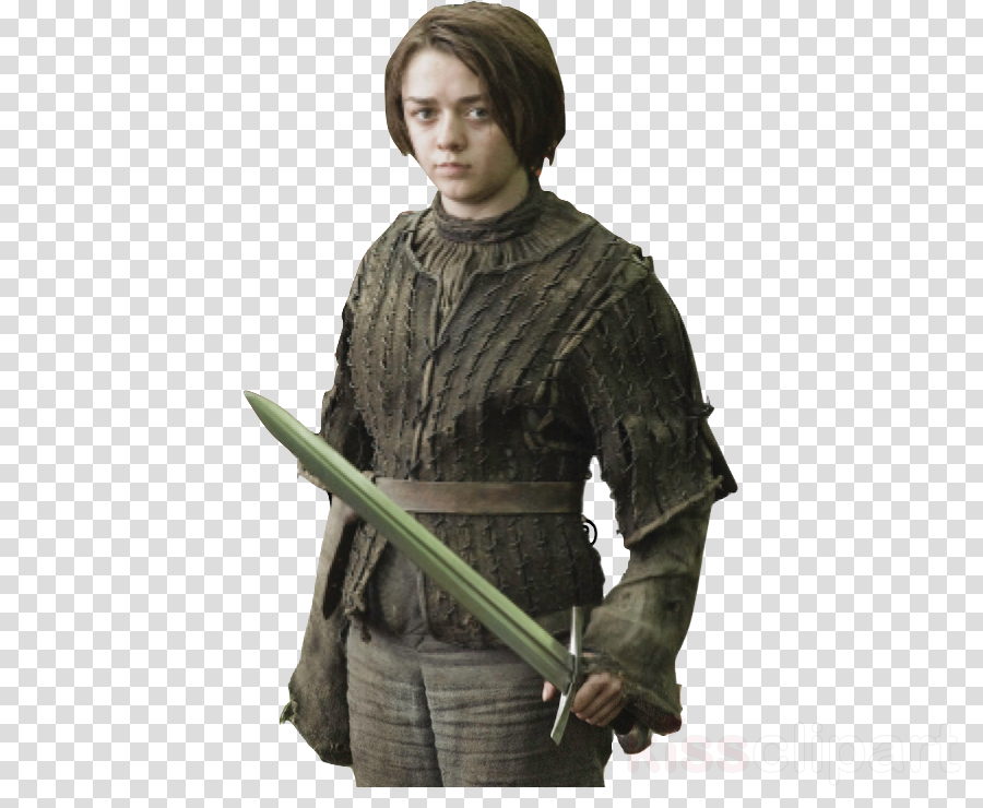Game of thrones arya stark. Download transparent clipart