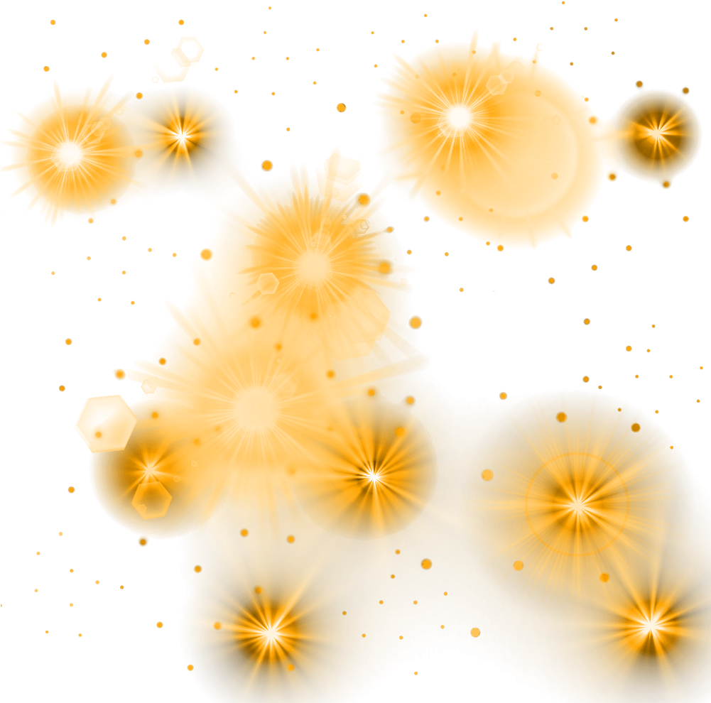 Yellow Glowing Lights Png (1000x1000), Png Download