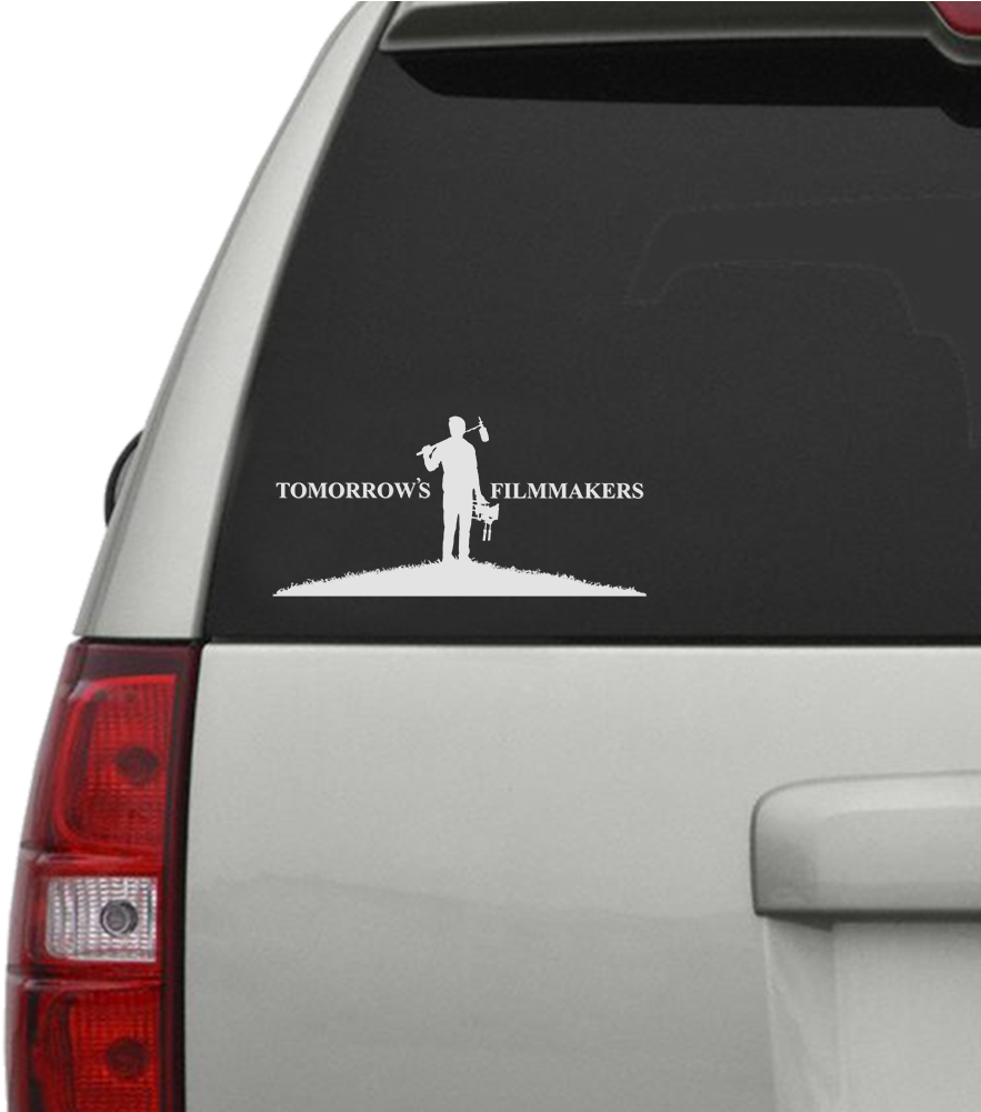 Tomorrows filmmakers car window decal mock up car sticker 1000x1000 png download