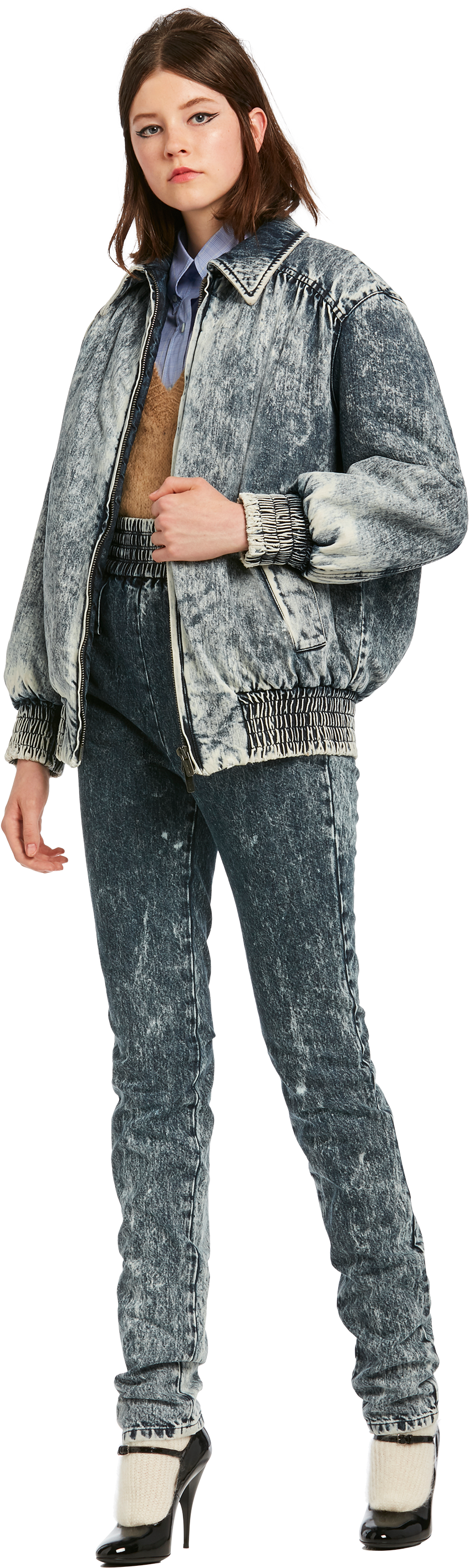 Download Denim Jacket Girl Png Image With No Background Pngkey Com