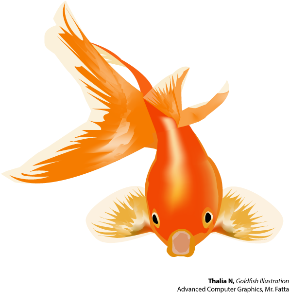 Goldfish And Betta - Gold Fish Vector Png (625x625), Png Download