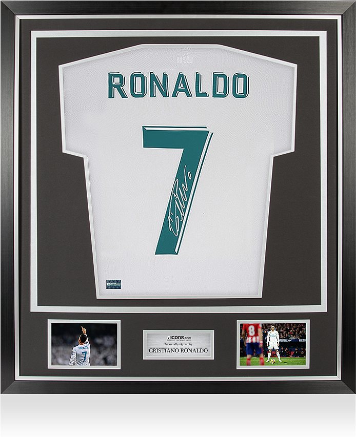 9800e407d7d Cristiano Ronaldo Back Signed Real Madrid 2017-18 Home - Thierry Henry  Signed Arsenal Shirt