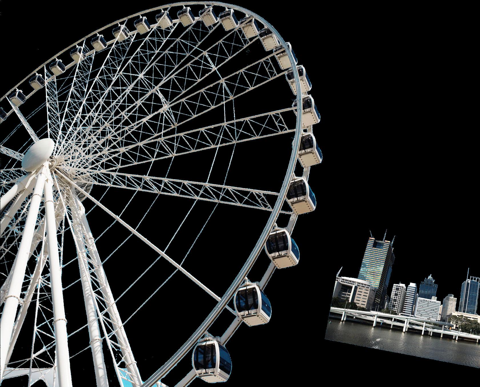 что картинка колесо обозрения без фона тающей