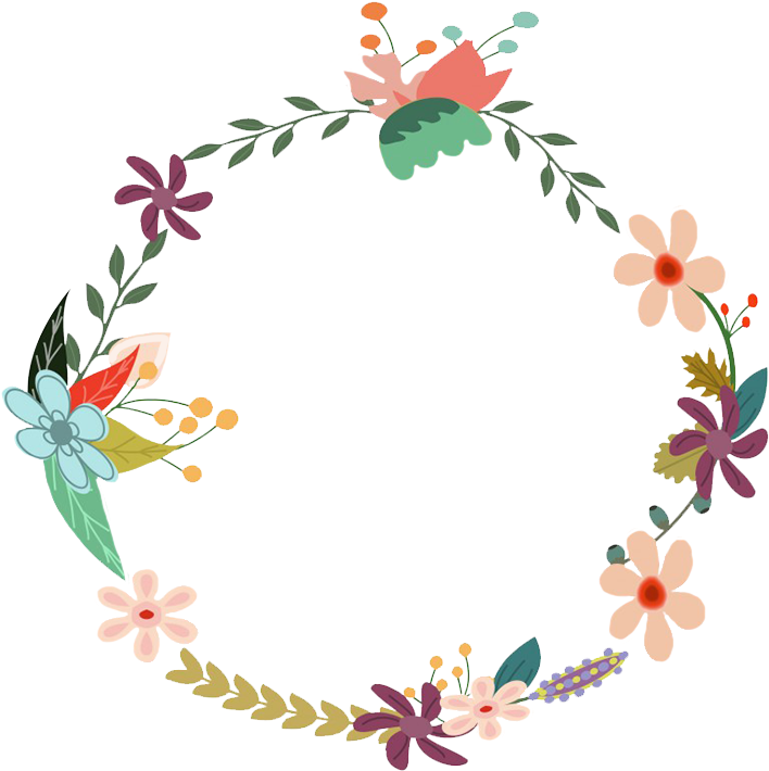 Round Flower Border Png - Vector Vintage Flowers Png ...