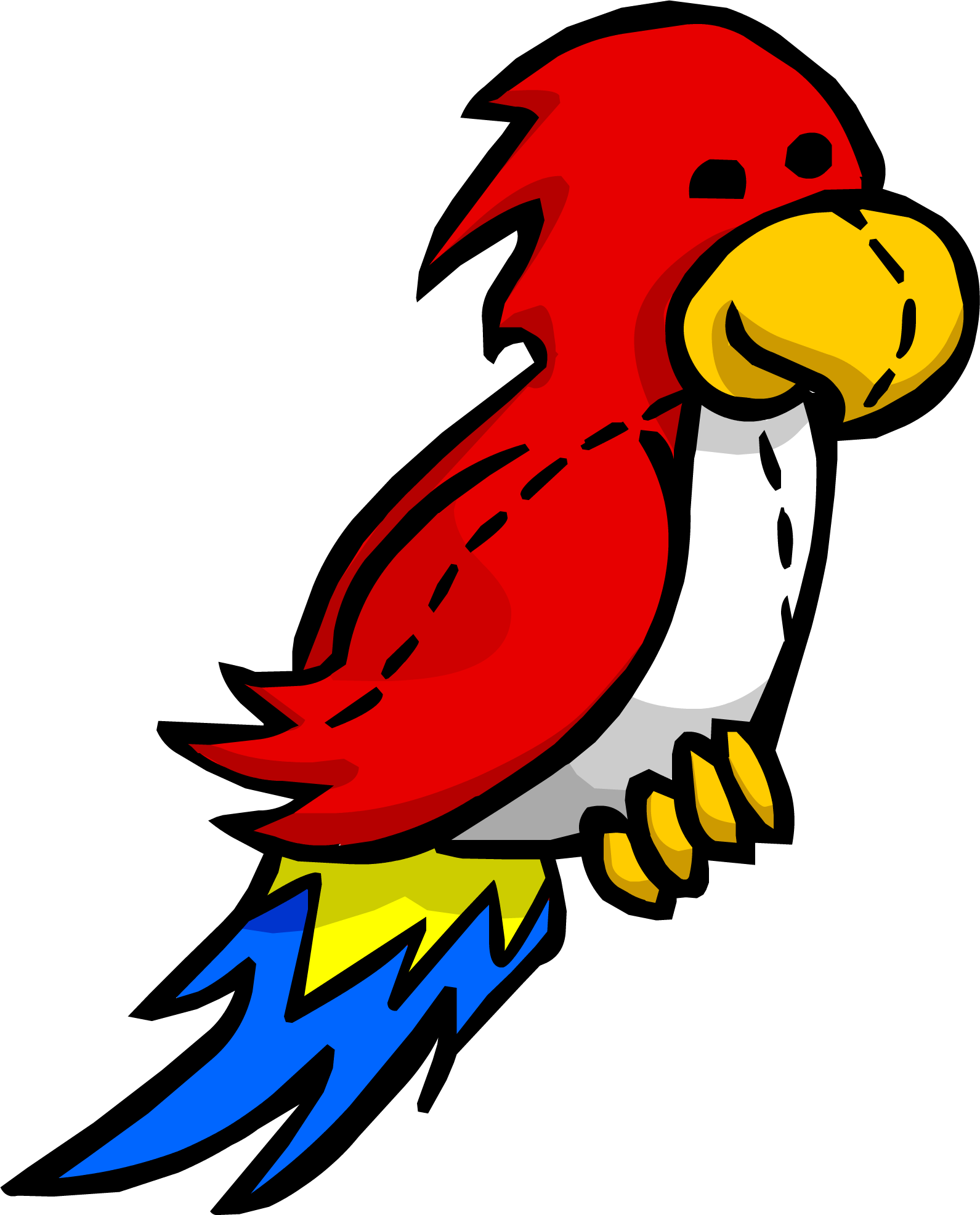 Download Stuffed Parrot - Club Penguin Parrot PNG Image with