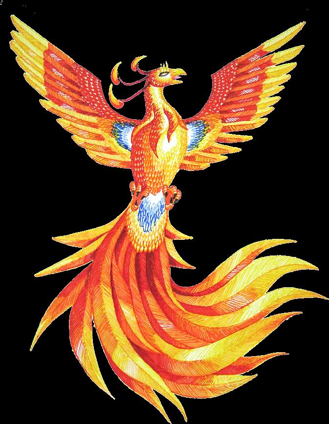 Открыток, птица феникс открытки
