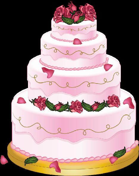 Wedding Cake Birthday Clip Art