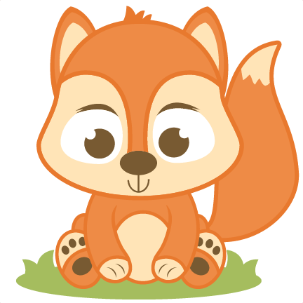 Red Squirrel Clipart Baby Squirrel - Baby Fox Clipart Png (432x432), Png Download